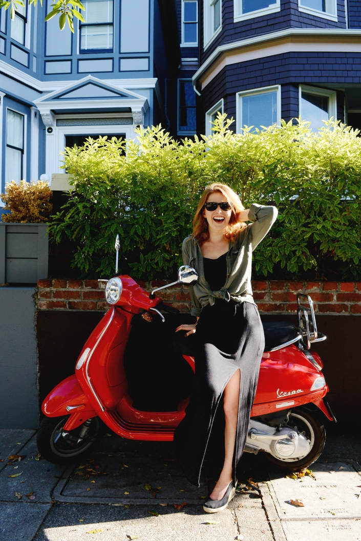 Lindsey on Motorcycle, Spiritual Badass