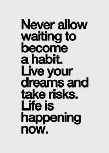 never-allow-waiting-to-become-a-habit-live-your-dreams-and-take-risks-life-is-happening-now