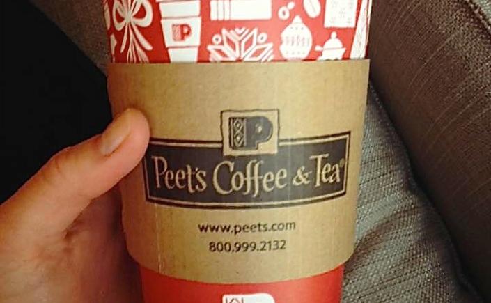 Peet's Christmas Coffee Cup